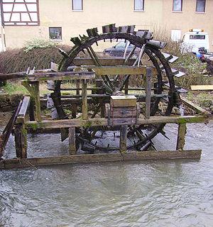 Ebermannstadt - Scoop wheel on the Wiesent