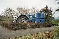 An electrically driven pump (electropump) for waterworks near the Hengsteysee, Germany.