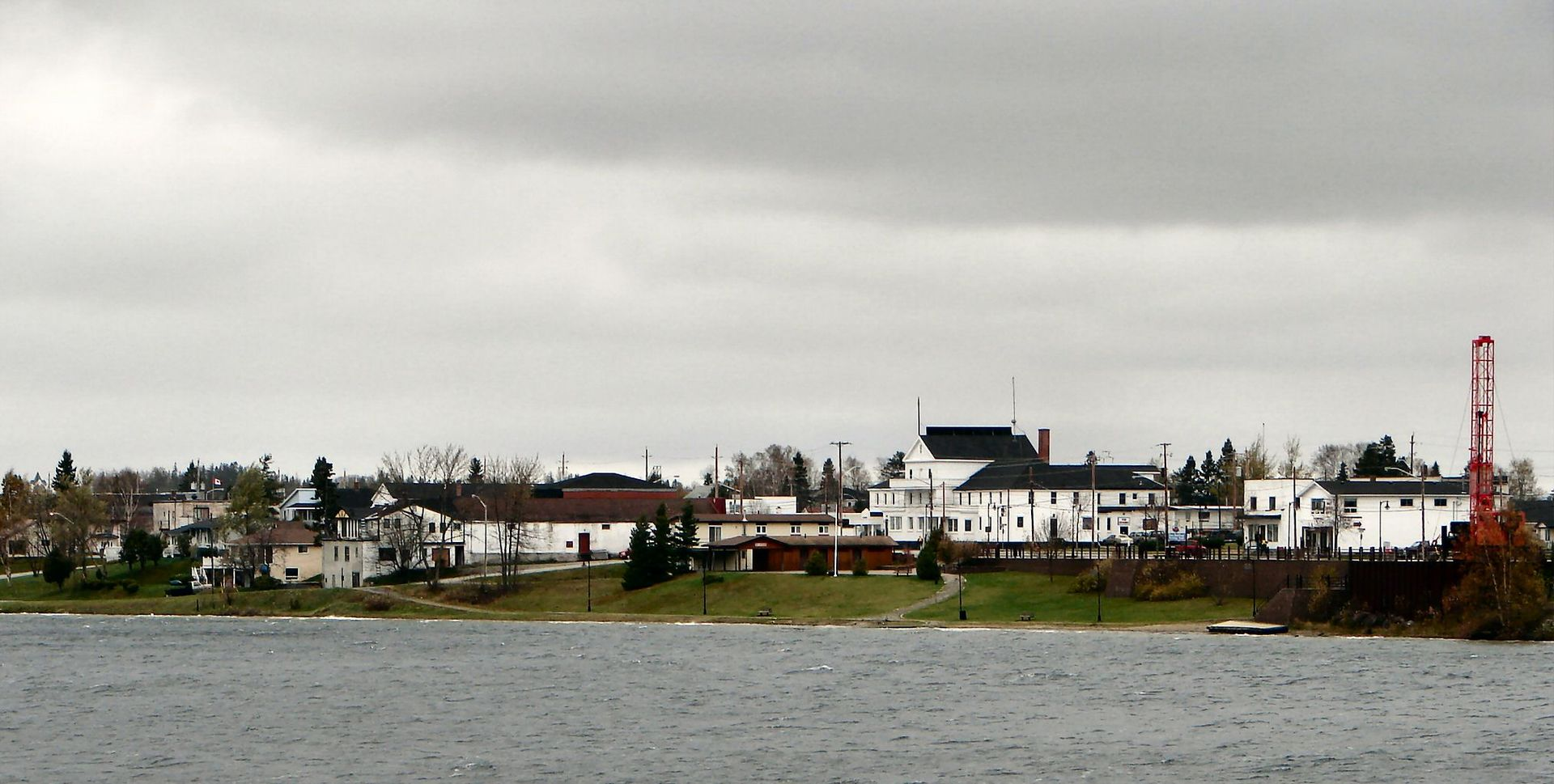 Wawa as seen across Wawa Lake