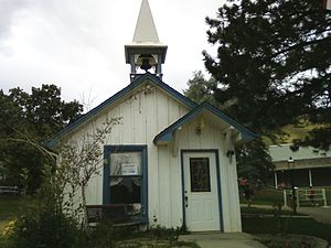 Heritage Square (Golden, Colorado) - The former schoolhouse, Wedding Bell Chapel.