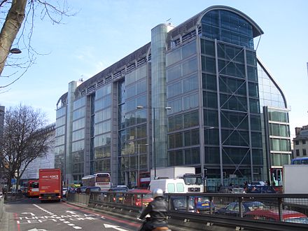 The headquarters of the Wellcome Trust in London, United Kingdom Wellcome.jpg