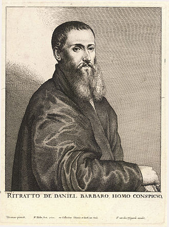 Daniele Barbaro - Etching of Daniele Barbaro by Wenzel Hollar.