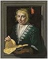 Werner van den Valckert - A girl holding pancakes in a feigned stone window, 1624 2018 CKS 16352 0002 000.jpg