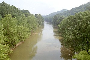 West Fork River - The West Fork River in Enterprise in 1996