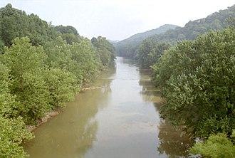 West Fork River - The West Fork River in Enterprise in 1996