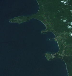Wewak - Wewak city centre and coastline from space