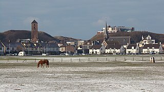 Wijk aan Zee Town in North Holland, Netherlands