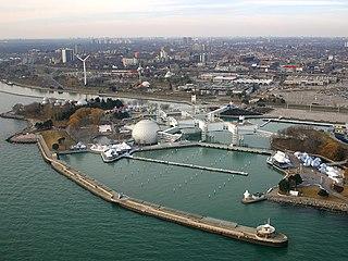 Ontario Place entertainment venue and lakeside park in Toronto, Ontario, Canada