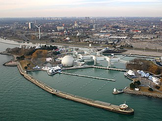 Ontario Place - Aerial overview of Ontario Place, 2006