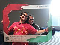 Wikimania 2015-Tuesday-Andrés Cruz y Corro and Carmen Alcázar.jpg
