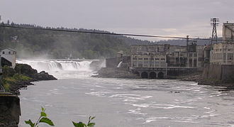 Willamette Falls - Image: Willamette Falls from Oregon City