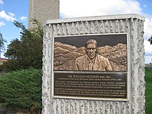 William Hudson plaque at the Cooma Visitors Centre.jpg