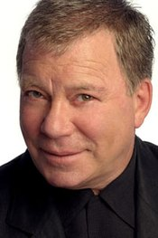 A close cropped photograph of William Shatner