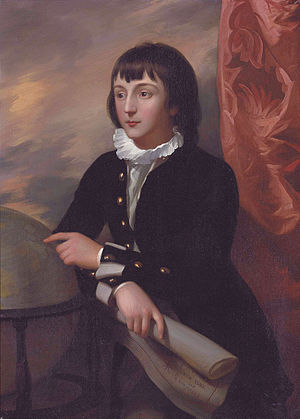 William Wellesley-Pole, 3rd Earl of Mornington - The young William Wesley aged 14, painted in 1777 by Benjamin West