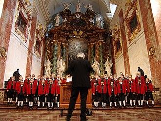 Boys' choir - The Wilten Boys' Choir, one of the oldest boys' choirs in Europe. Six boys from this choir were used to found the Vienna Boys' Choir by Maximilian I.