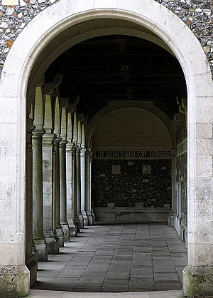 Winchester College War Cloister - Arches of the cloister