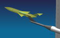 Wind tunnel model on a Z-sting (schematic).png