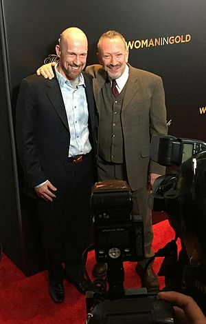 Allan Corduner - Corduner with husband Juha Sorola (left) at the Woman In Gold New York premiere April 2015