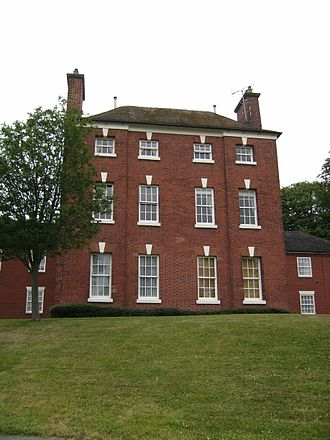 Wombourne - The former Heath House, a residence of the Foley family attached to their industrial complex at Heath Mill. Today it is an apartment block, known as Mansion Court.