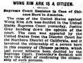 Wong Kim Ark Is a Citizen Washington Post 1898-03-29.png