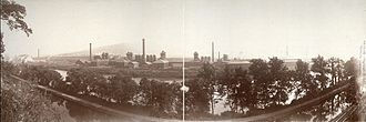 Bethlehem Steel - The Bethlehem Steel plant, photographed circa 1896 by William H. Rau