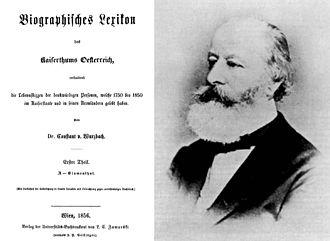 Biographisches Lexikon des Kaiserthums Oesterreich - Image: Wurzbach, Constantin, Ritter von Tannenberg (1818 1893)