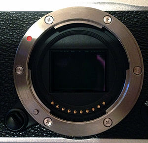 Fujifilm X-mount - X-mount on Fujifilm X-E1 camera