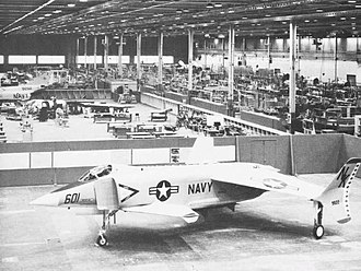 Rockwell XFV-12 - XFV-12A mockup at the North American plant, Columbus, Ohio, ca. 1973.