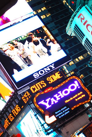 Yahoo! - Yahoo! sign at Times Square