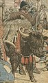 Yak detail, Le Petit Journal - Thibet-Le Dalaï-Lama de Lhassa fuit la domination anglaise (cropped).jpg