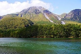 Mount Yake - Mount Yake behind Lake Taishō