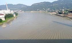 Yangtze River through Yibin Yangtze River Bridge.jpg