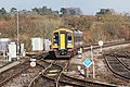 Yeovil Junction - SWR 159022 (Stagecoach livery) arriving from London.JPG