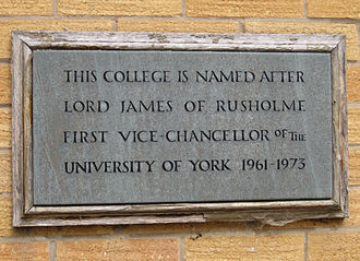 James College, York - Foundation plaque