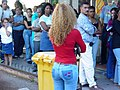 Young Woman and Queue - Havana - Cuba.jpg