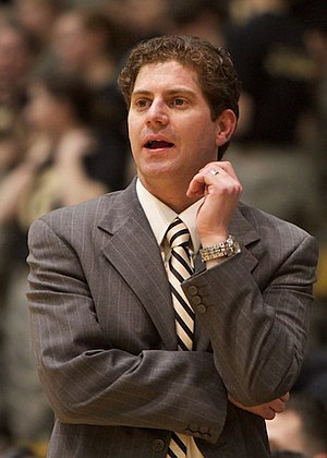 Zach Spiker - Spiker coaching at Army in 2011
