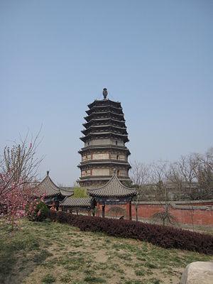 Lingxiao Pagoda - Image: Zhengding Lingxiao Pagoda 2