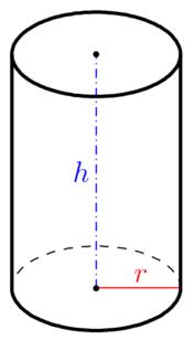 Senkrechter kreiszylinder h he for Prisma circular