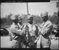 """""""Just after stepping out of Ft. Benning (GA) Theater No. 4 at the conclusion of the 16th O.C.S. graduating exercises, 2n - NARA - 531137.tif"""