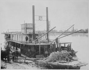 Yellowstone River - The steamer Expansion on the Yellowstone River in Montana, 1907