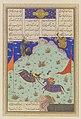 """The Fifth Joust of the Rooks- Ruhham Versus Barman"", Folio 342v from the Shahnama (Book of Kings) of Shah Tahmasp MET DP120256.jpg"