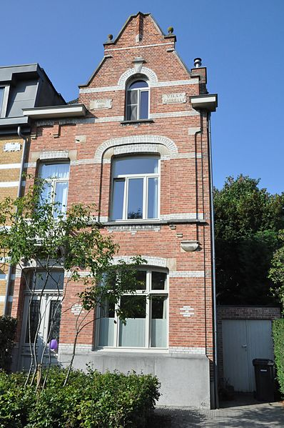 """Villa Gabriëlle"" (see inscription) at Koning Albertlei 1, Edegem, Antwerp, Belgium. Built in 1909 (see inscription)."