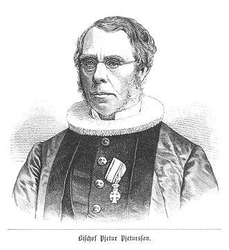 Bishop of Iceland - Image: (Baumg 1889) Bischof Pjetur Pjeturson