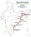 (Guwahati - Chennai) Express Route map.png