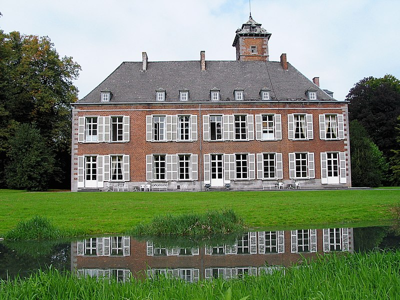 Écaussinnes-d'Enghien  (Belgium), Southeastern façade of the « la Follie » castle (XVIth century).