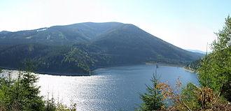 Šance Dam - Šance Dam as seen from southeast