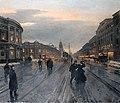 Беггров Александр Карлович (1841-1914) Невский проспект вечером 1882 г.jpg