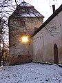 Жовква. Замок і південно-східна вежа взимку.jpg