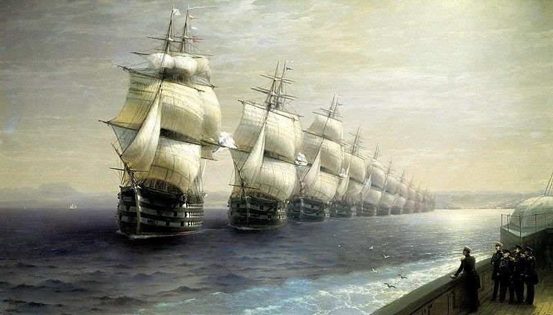 File:Смотр Черноморского флота в 1849 году.jpg