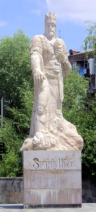 Tigranes the Great - Statue of Tigranes the Great in Yerevan